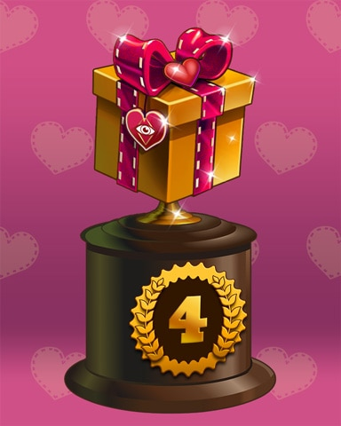 Gift Of Love Lap 4 Badge - Mahjong Safari HD