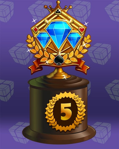 Jeweled Journey Lap 5 Badge - Sweet Tooth Town
