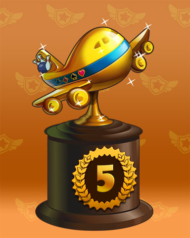 Golden Flyer Lap 5 Badge - Pogo™ Bowl