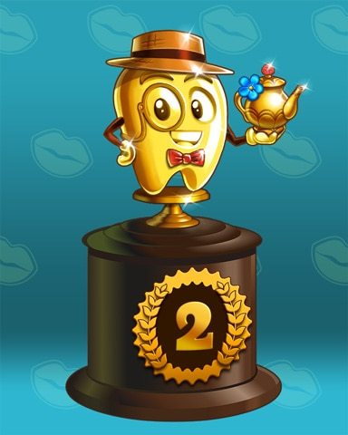 Toothy's Tea Party Lap 2 Badge - First Class Solitaire HD