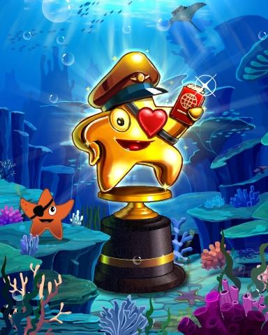 Pogo Starrgh-Fish Scamper Victory Badge