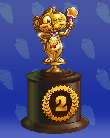 Golden Gopher Lap 2 Badge - Poppit! Party