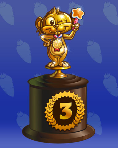 Golden Gopher Lap 3 Badge - Solitaire Blitz