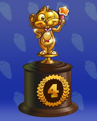 Golden Gopher Lap 4 Badge - Pogo Daily Sudoku