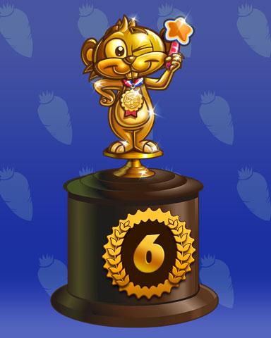 Golden Gopher Lap 6 Badge - Jewel Academy
