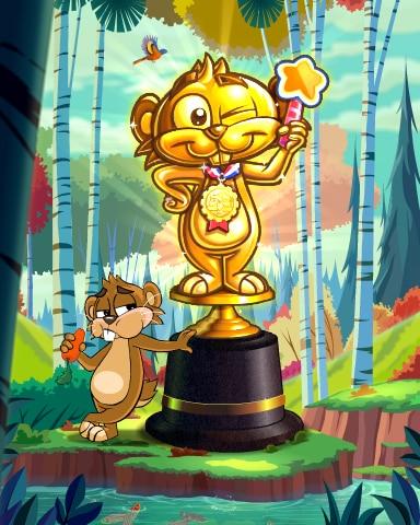 Pogo Golden Gopher Victory Badge