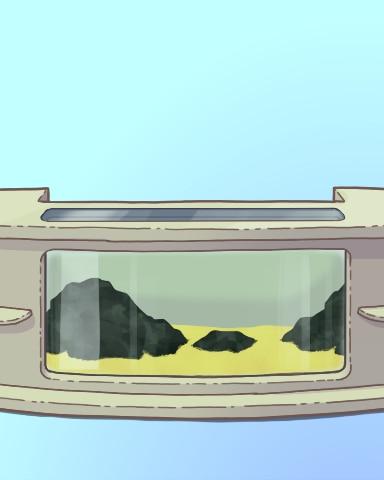Just Beachy Badge - Quinn's Aquarium