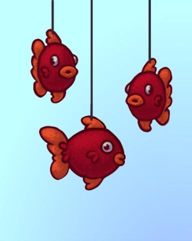 Fluffy Fish Badge - Quinn's Aquarium