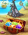 Flamin Treasure Badge - Bejeweled 3