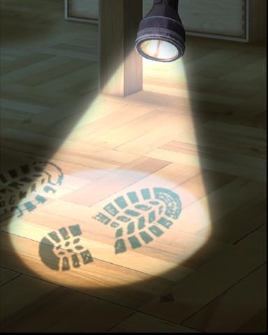 Suspicious Bootprint Badge - Claire Hart: Secret In The Shadows