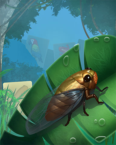 Lonely Locust Badge - Mahjong Safari HD