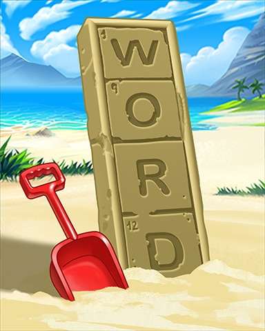 Word On The Beach Badge - Crossword Cove HD