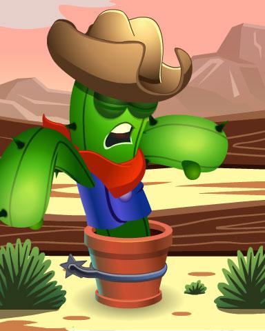 Snoozing Saguaro Badge - Poppit! Party