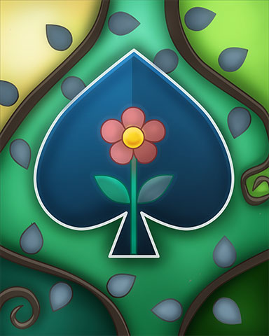 Spade Flower Badge - Jet Set Solitaire