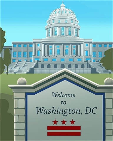 Welcome To Washington D.C. Badge - Cross Country Adventure