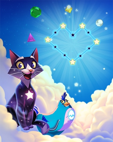 Love Stars Badge - Bejeweled Stars