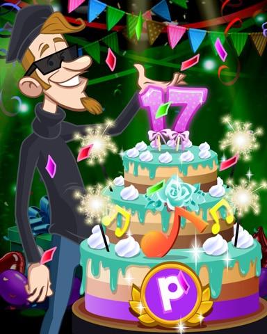 Beatnik's Party Cake Badge - Canasta HD