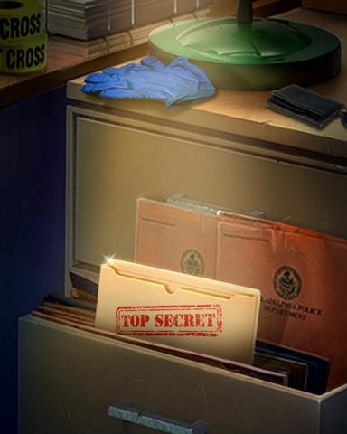 Secret Case Badge - Claire Hart: Secret In The Shadows