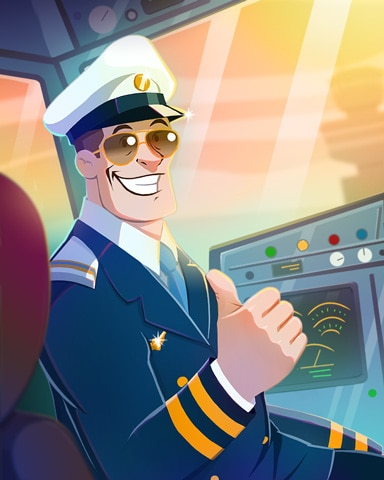 Cool Captain Badge - First Class Solitaire HD