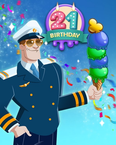 Ice Cream Captain Badge - First Class Solitaire HD