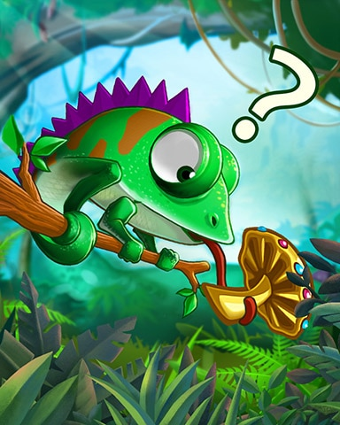 Confused Chameleon Badge - Jungle Gin HD