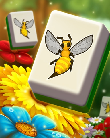 Busy Bee Tiles Badge - Mahjong Safari HD