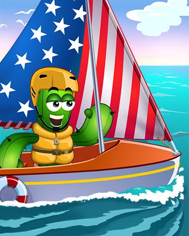 Stars, Stripes And Sails Badge - Poppit! Bingo
