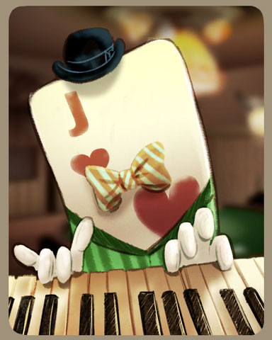 Piano Jack Badge - Double Deuce Poker HD