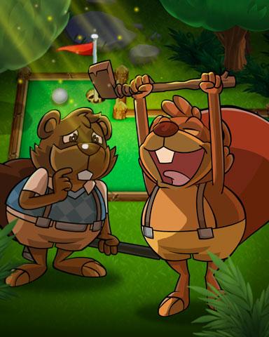 Golfing Bros Badge - Pogo Mini Golf