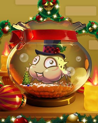 Gift-Wrapped Goldfish Badge - Quinn's Aquarium