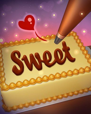 Sweetest Words Badge - SCRABBLE