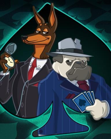 Dapper Dogs Badge - Spades HD