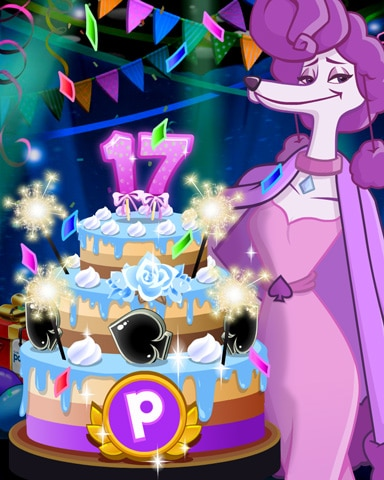 Fifi's Party Cake Badge - Spades HD