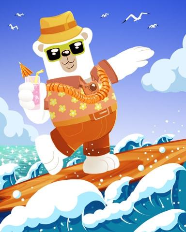 Surfin' Bearnard Surprise Badge - Snowbird Solitaire