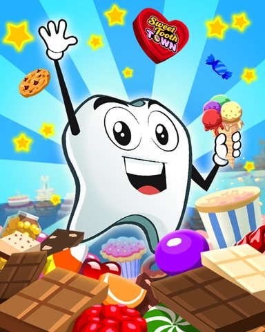 Candy Day Fun Badge - Sweet Tooth Town