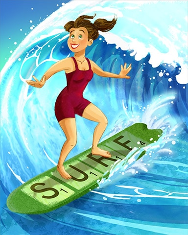 Word Surfer Badge - SCRABBLE