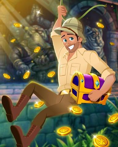 Treasure Swing Badge - Tri-Peaks Solitaire HD