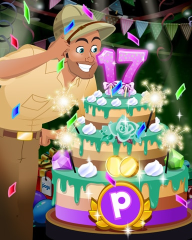 Tex's Party Cake Badge - Tri-Peaks Solitaire HD