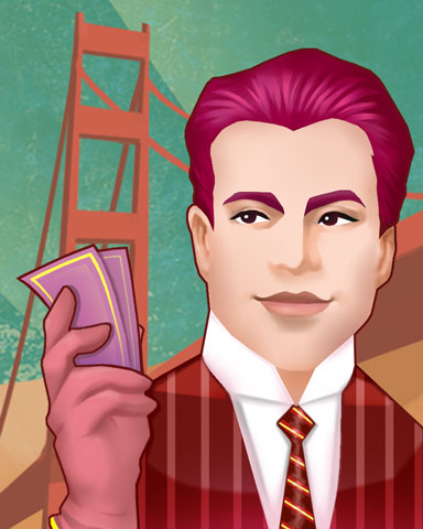Hearts In SF Badge - World Class Solitaire HD