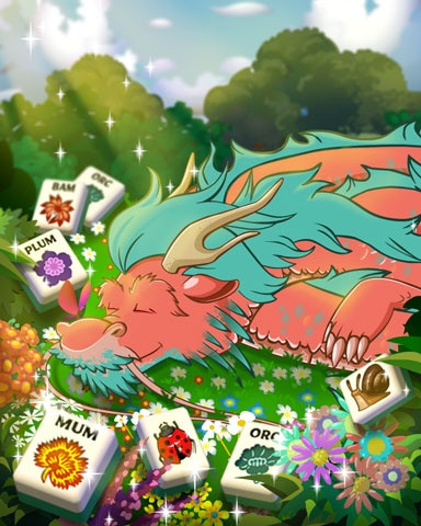 Sleeping Dragon Badge - Mahjong Garden HD