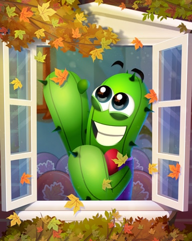 Cactus In Autumn Badge - Poppit! Bingo