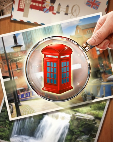 Telephone Box Badge - Postcards From Britain