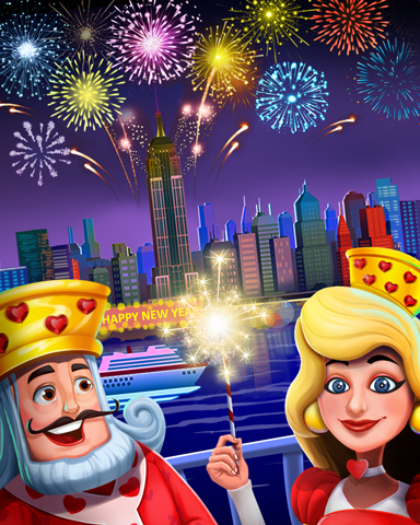 Royal Fireworks Badge - Payday Freecell HD