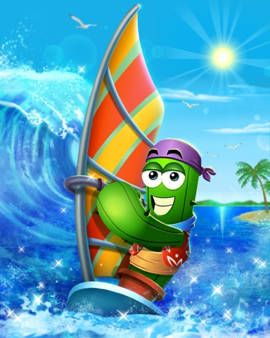 Wind Surfing Spike Badge - Thousand Island Solitaire HD