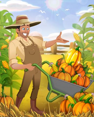 Peak Pumpkin Harvest Badge - Tri-Peaks Solitaire HD