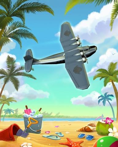 Beach Flyover Badge - World Class Solitaire HD