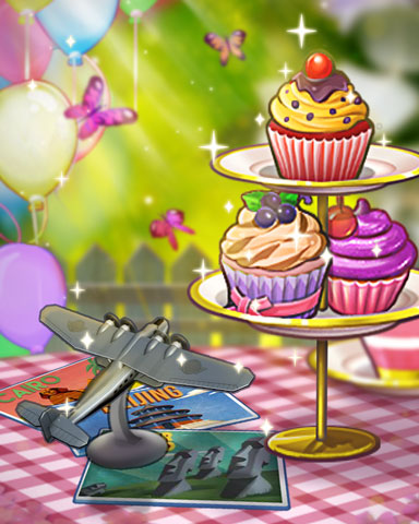 Cupcake Flyby Badge - World Class Solitaire HD