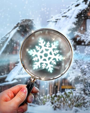 Hidden Snowflake Badge - Winter Wonderland