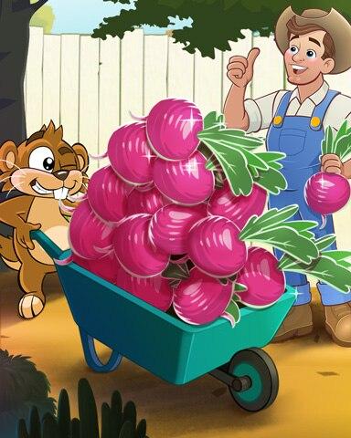 Too Many Turnips Badge - Word Whomp HD