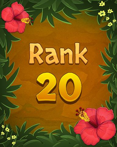 Rank 20 Badge - Mahjong Sanctuary